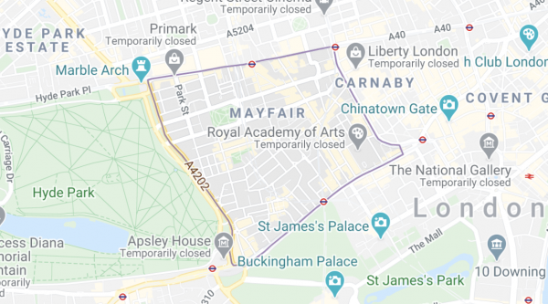 Locksmith in Mayfair London - Got Yourself Locked Out