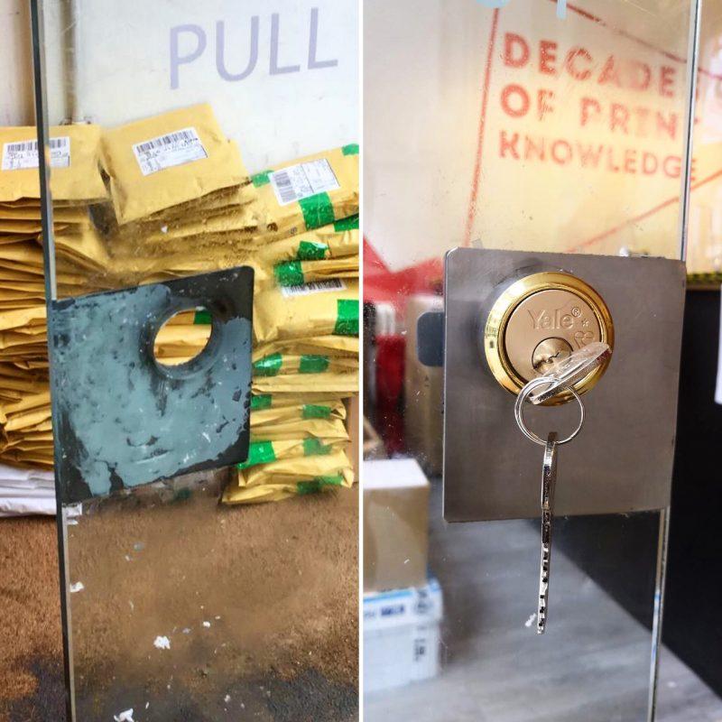 yale lock installed